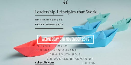 Breakfast at the Next Level   Leadership Principles that Work