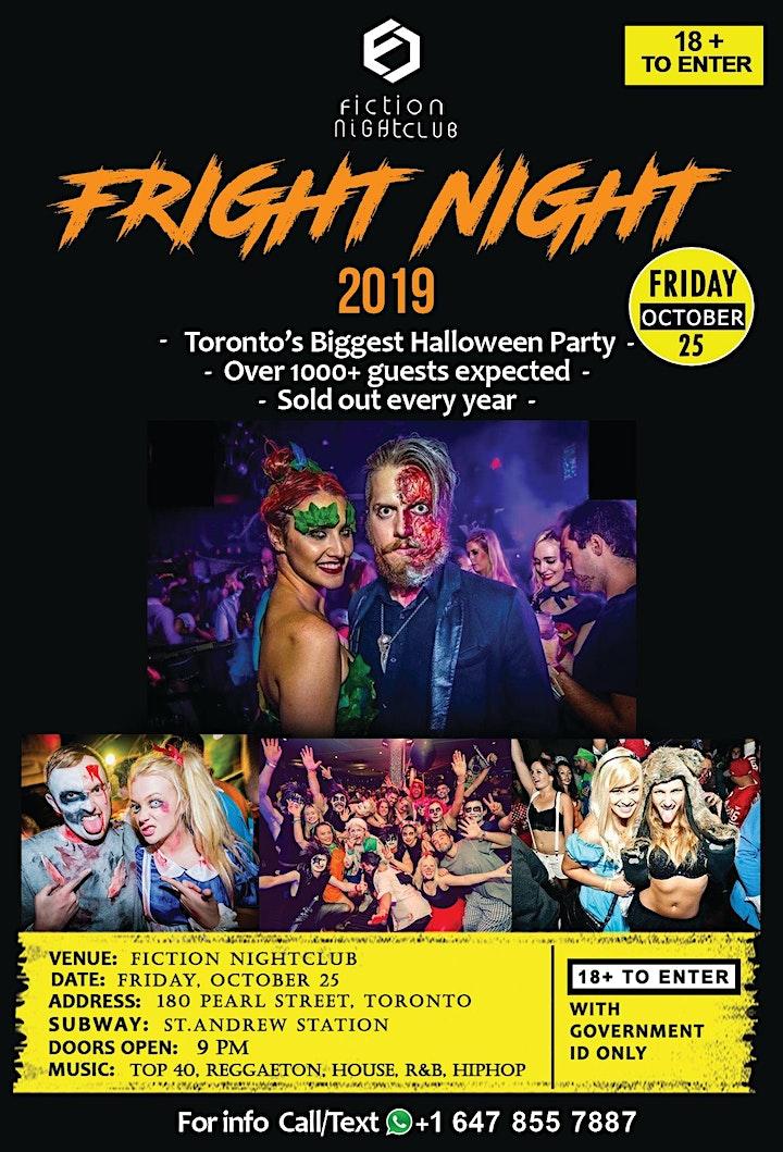 Fright Night 2019 @ Fiction Club //18+ Toronto's biggest halloween party image
