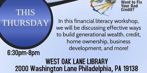 POWER OF CREDIT Financial Literacy workshop