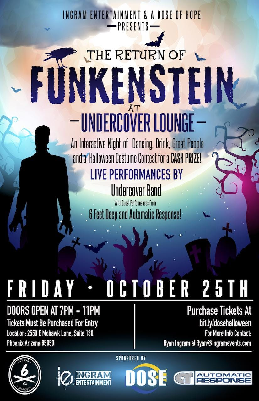The Return of Funkenstein at Undercover Lounge