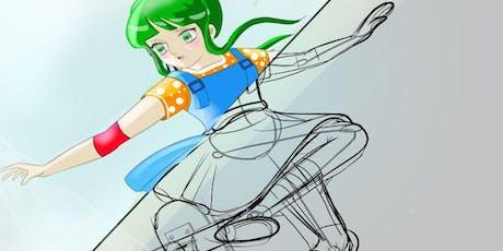 Disegno manga in digitale biglietti