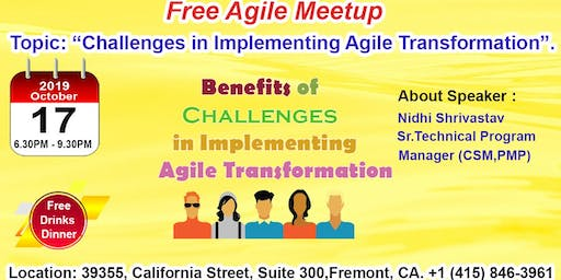 Free Agile Meetup in Fremont-Oct 17th,2019