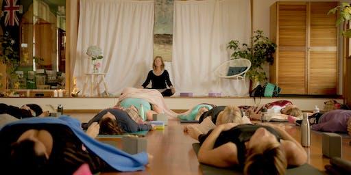 YOGA MASTERCLASS - FLOWING Yin & Meditation Deborah Carwana  Kingston Beach