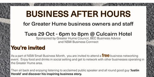 Greater Hume Business After Hours Event