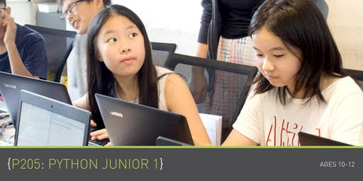 Coding for Kids - P205: Python Junior 1 Course (Ages 10-12) @ Parkway Parade