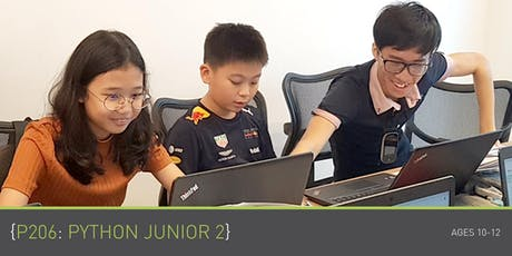Coding for Kids - P206: Python Junior 2 Course (Ages 10-12) @ Parkway Parade tickets