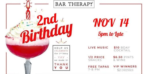 BAR THERAPY 2ND BIRTHDAY