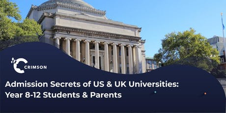 Admission Secrets of US & UK Unis with Application Workshop | MEL tickets