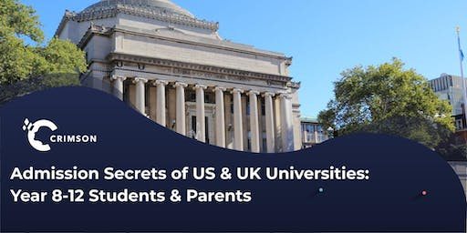 Admission Secrets of US & UK Unis with Application Workshop | SYD