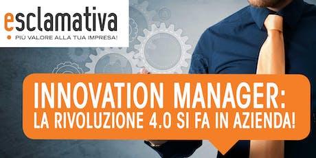 Voucher Innovation Manager: Workshop gratuito biglietti