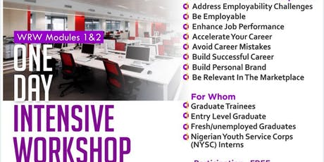 Workplace Readiness Workshop (WRW) Modules 1 and 2 tickets
