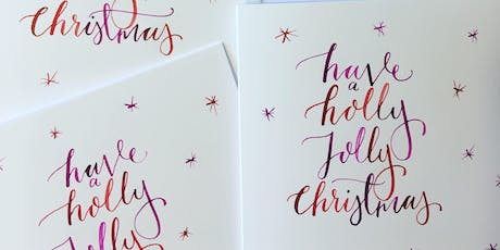 Christmas card calligraphy workshop SPINACH EAST DULWICH tickets