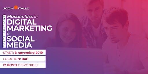 Masterclass in Digital Marketing e Social Media (3^ edizione)