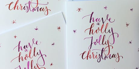 Christmas card calligraphy workshop PROPERCORN tickets