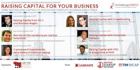 Raising Capital for your Business Chap V: Raising Capital with Corporate Venture biglietti