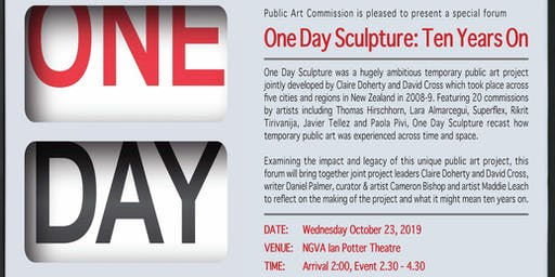 One Day Sculpture: Ten Years On