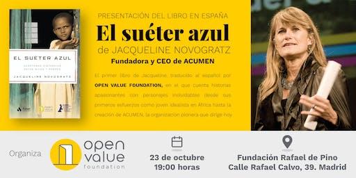 """JACQUELINE NOVOGRATZ PRESENTA SU LIBRO: """"EL SUÉTER AZUL"""""""