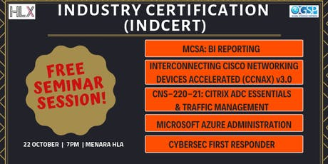 FREE TECH TALK SESSION FOR INDCERT PROGRAMMES tickets