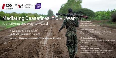 Mediating Ceasefires in Civil War: Identifying the way forward tickets