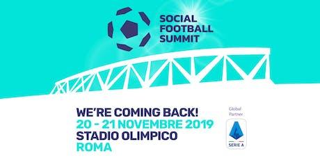 SOCIAL FOOTBALL SUMMIT 2019 biglietti
