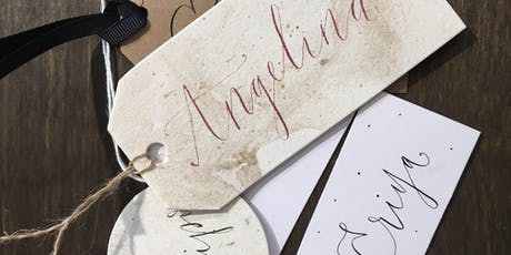 Christmas gift tag calligraphy workshop FOREST tickets