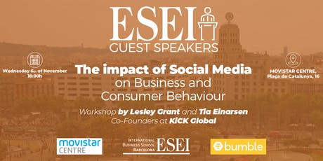 ESEI Guest Speaker: Social Media Impact on Consumer Behavior and Businesses tickets
