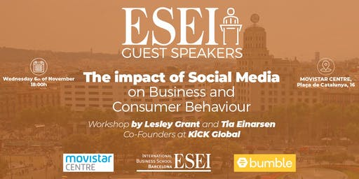 ESEI Guest Speaker: Social Media Impact on Consumer Behavior and Businesses