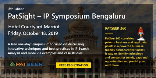 PatSight – IP Symposium by Gridlogics @ Bengaluru