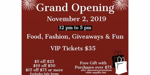 Grand Opening of Tisha's Boutique