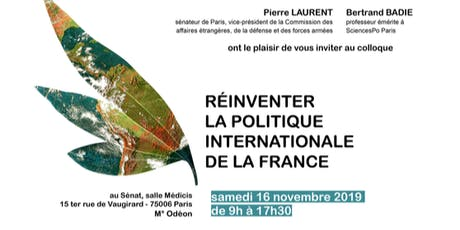 "Colloque ""Réinventer la politique internationale de la France"" billets"