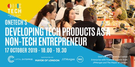 Developing tech products for non-tech entrepreneurs (18-24 year olds) tickets
