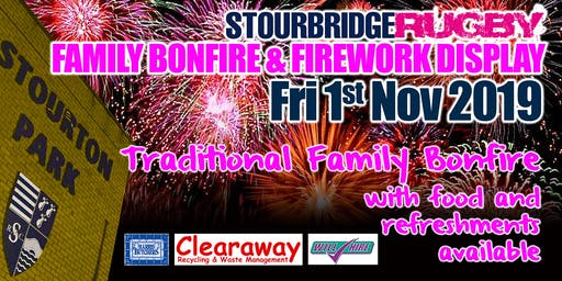 Stourbridge Rugby Club Bonfire and Firework Event