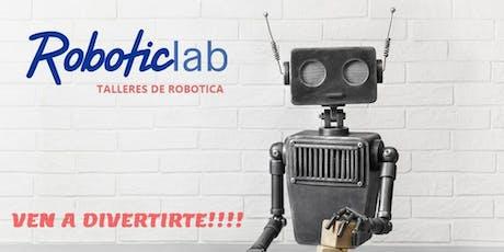 TALLER DE ROBOTICA PARA NIÑOS DE 6 A 10 AÑOS entradas