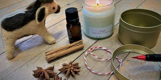 Winter botanical candle workshop