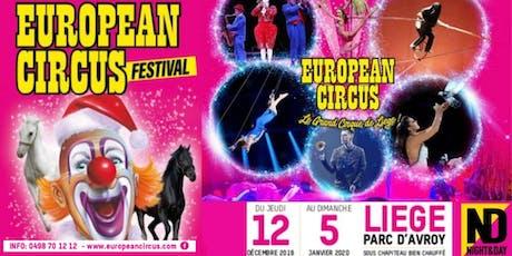European Circus Festival 2019 - Lundi 16/12 13h billets