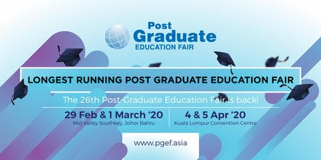 Post Graduate Education Fair 2020 - Mid Valley Southkey tickets
