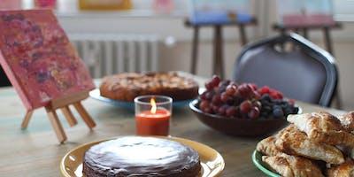 Kaffee und Kuchen im Atelier