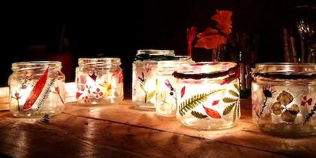 Pressed Flower & Wood Tealight Holders tickets