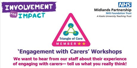 'Engaging with Carers' Workshops tickets