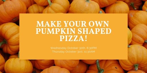 Make Your Own Pumpkin Shaped Pizza
