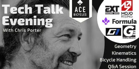 Mountain bike tech talk evening with Chris Porter tickets