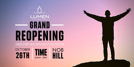 Lumen: Optimal Wellness Grand Reopening! tickets
