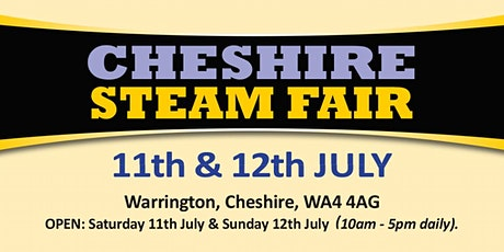 Cheshire Steam Fair 2020 (Buy Admission Tickets) tickets