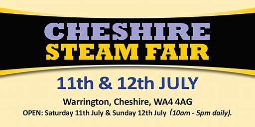 Cheshire Steam Fair 2020 (Buy Admission Tickets)