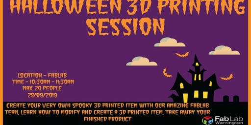 3D Printing Halloween Session