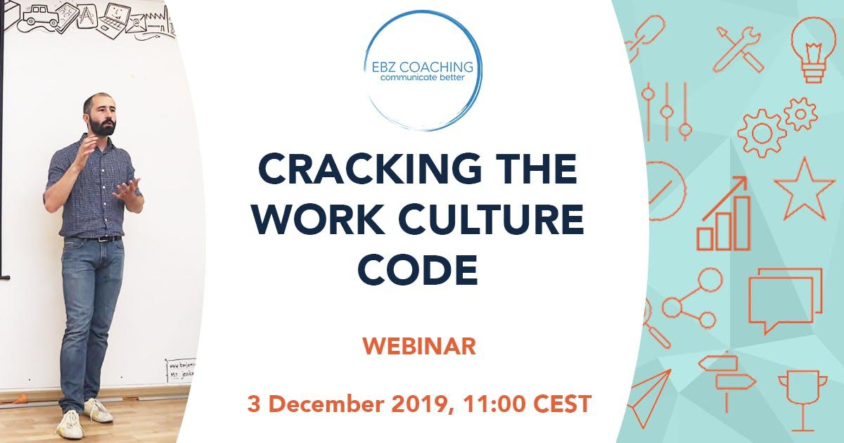 Cracking the Work Culture Code - Webinar