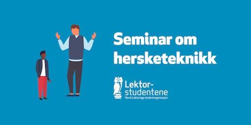 Seminar om hersketeknikk