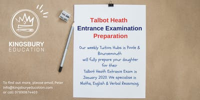 Talbot Heath Girls Entrance Exam Tuition Hubs - Bournemouth