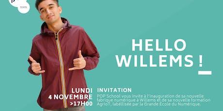 Inauguration de POP School Willems billets