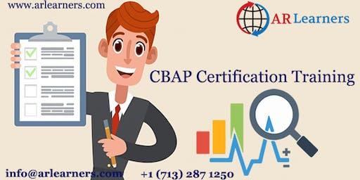 CBAP 3 days Certification Training in Richmond, VA, USA